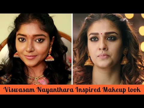 NAYANTHARA INSPIRED MAKEUP AND HAIRSTYLE LOOK IN TAMIL | CELEBRITY MAKEUP / FESTIVE MAKEUP LOOK thumbnail