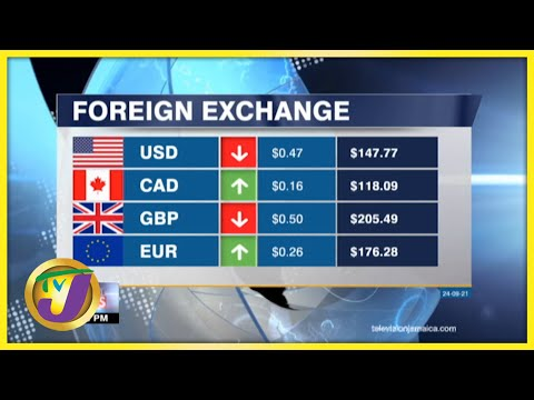 Jamaican Foreign Exchange Rate | TVJ Business Day - Sept 24 2021