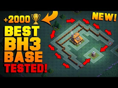 BEST Builder Hall 3 Base w/ PROOF!! | NEW CoC BH3 ANTI 2 STAR Builder Base! | Clash of Clans