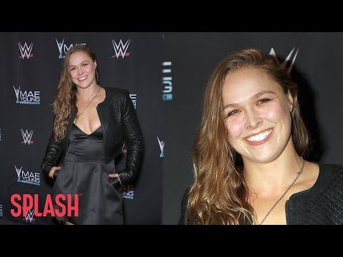 Newlywed Ronda Rousey Appears at WWE Event in Las Vegas | Splash News TV