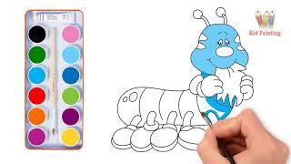 Learn how to draw and paint cute worms | How to draw for kids