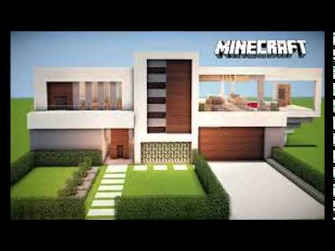Casas modernas no minecraft youtube for Casa moderna minecraft pe 0 10 5