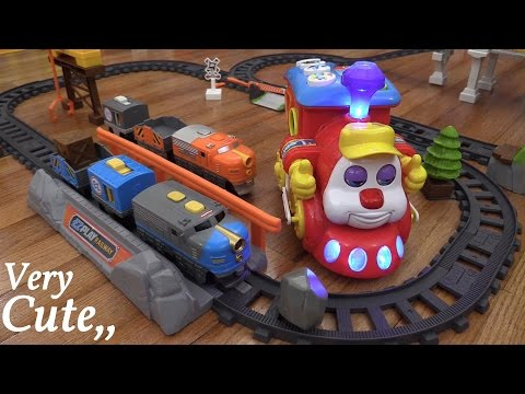 Fisher-Price EZ Play Railway Train Playtime And A Bump & Go Educational Toy Train Unboxing