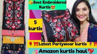 🌺Latest Amazon kurti Haul🌺Flipkart Kurti Haul🌺Latest Embroidered kurti Haul🌺Preena🌺