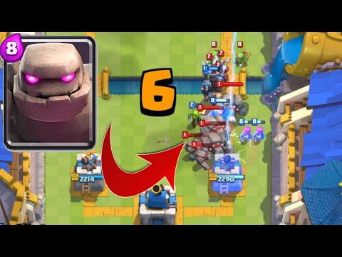 Clash Royale - 4 GOLEMS IN 5 SECONDS! CRAZY DEFENSE REPLAY!