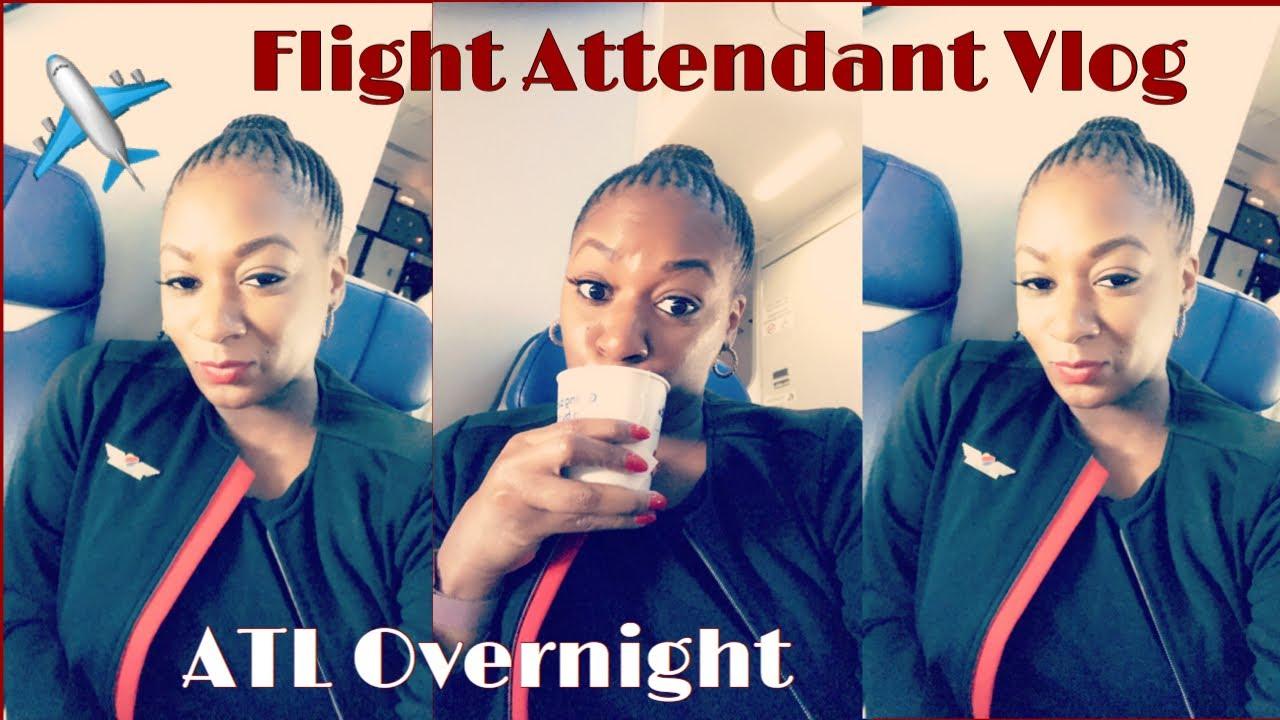 FLIGHT ATTENDANT VLOG || FLYING DURING COVID 19 || ATL OVERNIGHT
