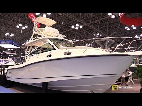2015 Boston Whaler 345 Conquest Fishing Boat - Walkaround - 2015 New York Boat Show