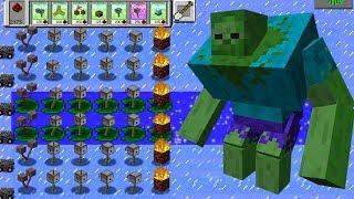 Plants vs Zombies Mod Minecraft - TEAM MINECRAFT vs GARGANTUAR FIGHT!
