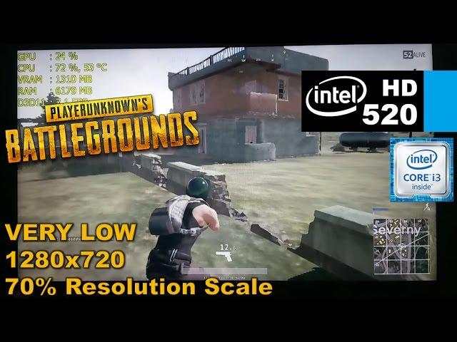 Intel HD 520   Playerunknowns BATTLEGROUNDS [i3 6100u] Very Low Settings
