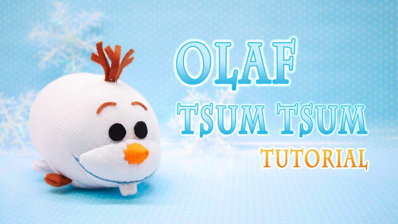 Diy disney frozen olaf tsum tsum plushie free pattern youtube for Tsum tsum watch