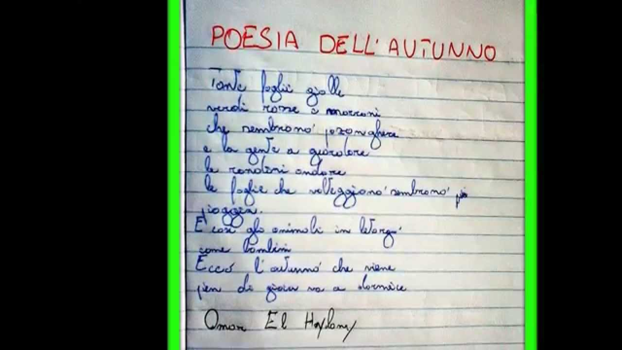 Poesia Dellautunno Omar El Haylany Youtube