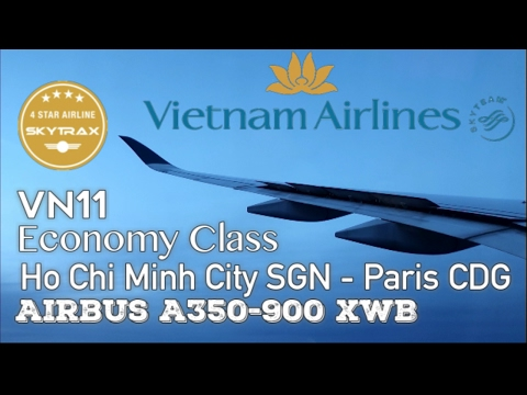 Flight Report Vietnam Airlines VN11⎢SGN ✈︎ CDG⎢Economy Class