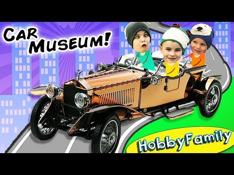 Car Museum! JET Rocket Car + Vacation to The Biggest Little City in the World with HobbyFamilyTV