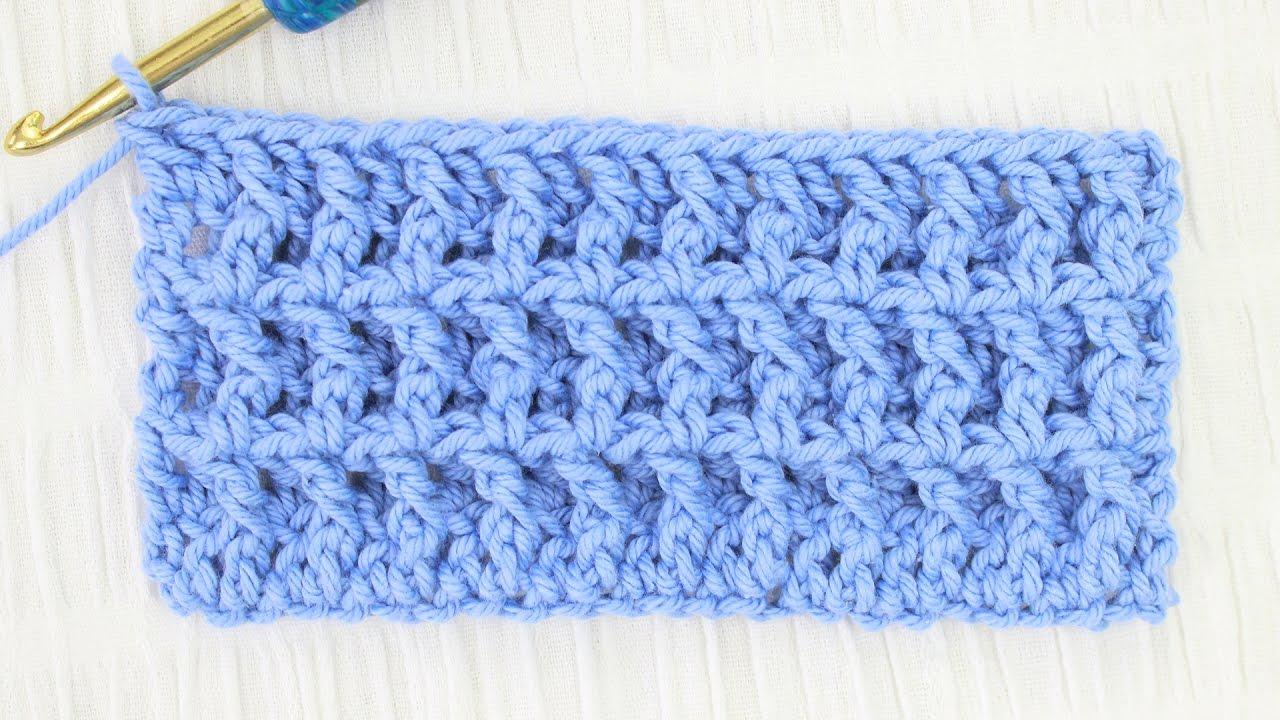 Waffle Stitch Crochet Tutorial - YouTube