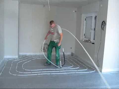 FingerHaus - So wird eine Fußbodenheizung verlegt AVI