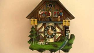 Woodcutters Musical Cuckoo Clock