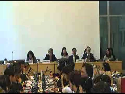 UN Committee on Rights of the Child 2013 Review of China—Day 2 Pt 1