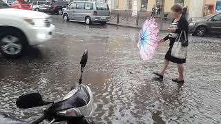 Потоп на честь реконструкції на площі Тираспольської 24.09.2018