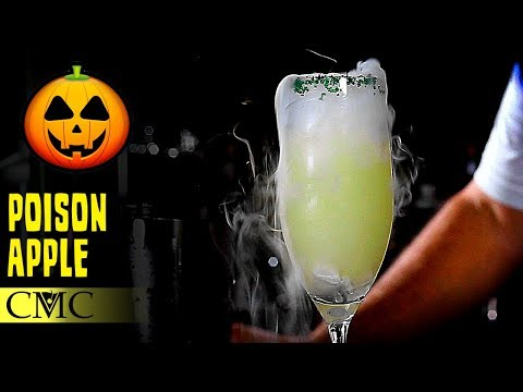 How To Make The Poison Apple Martini / Halloween Cocktails