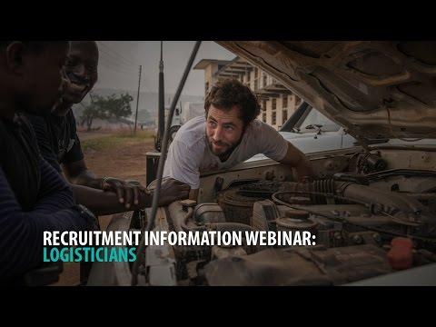 Recruitment Webinar: Logistics