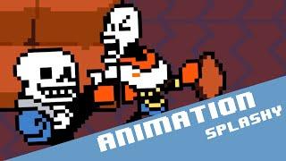 Sans Vs Papyrus - Undertale fight animation P.2/2