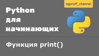 Урок 6 Ввод и вывод данных Python. Функция print() Python
