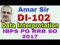 Data Interpretation questions | DI-102 | IBPS PO RRB SO-2017 | Unique method #Amar Sir