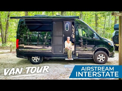 VAN LIFE TOUR | Full Time Living in The Smallest Sprinter Van Converted Airstream Interstate