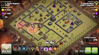 How to 3 star This TH9 Popular Internet War Base#1 (with LALOON and Low Level Heroes)