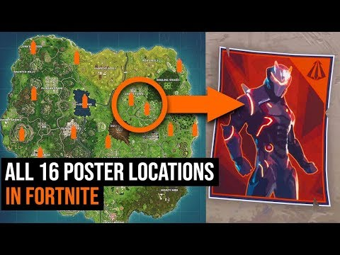ALL 16 Carbide & Omega Poster Locations In Fortnite - Season 4 Challenges