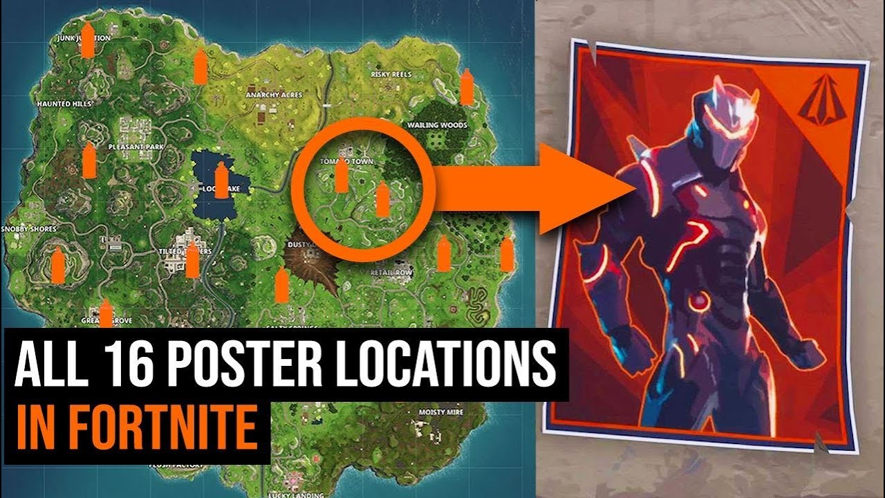 all 16 carbide omega poster locations in fortnite season 4 challenges - poster locations fortnite