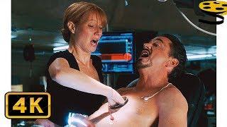 Пеппер помогает Поменять Реактор Тони Старку | Железный человек (2008) 4K ULTRA HD