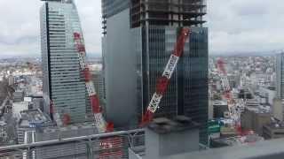 Jrゲートタワーの建設途中(名古屋ターミナルビルの建て替え計画)