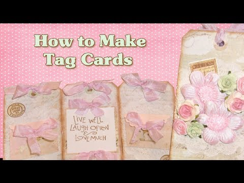 Scrapbook Tag Ideas Tag Cards Tutorial