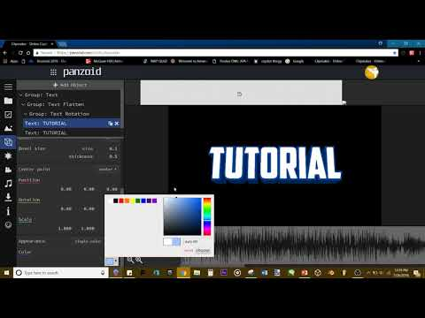 INTRO TUTORIAL!   HOW TO MAKE A PROFESSIONAL LOOKING 2D INTRO IN PANZOID!