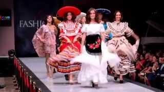 Национальная одежда Мексики / Mexican Art на показе мод Estet Fashion Week(Яркие и стильные пончо и национальные платья, костюму были показаны на неделе моды (модный показ Estet Fashion..., 2014-11-19T18:00:38.000Z)