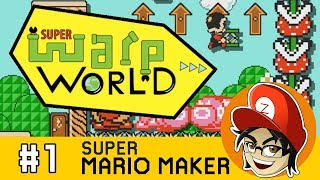Super Warp World Blind Speedrun (World 1 and 2)  | Super Mario Maker