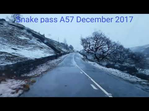 Snake Pass A57 Winter Time