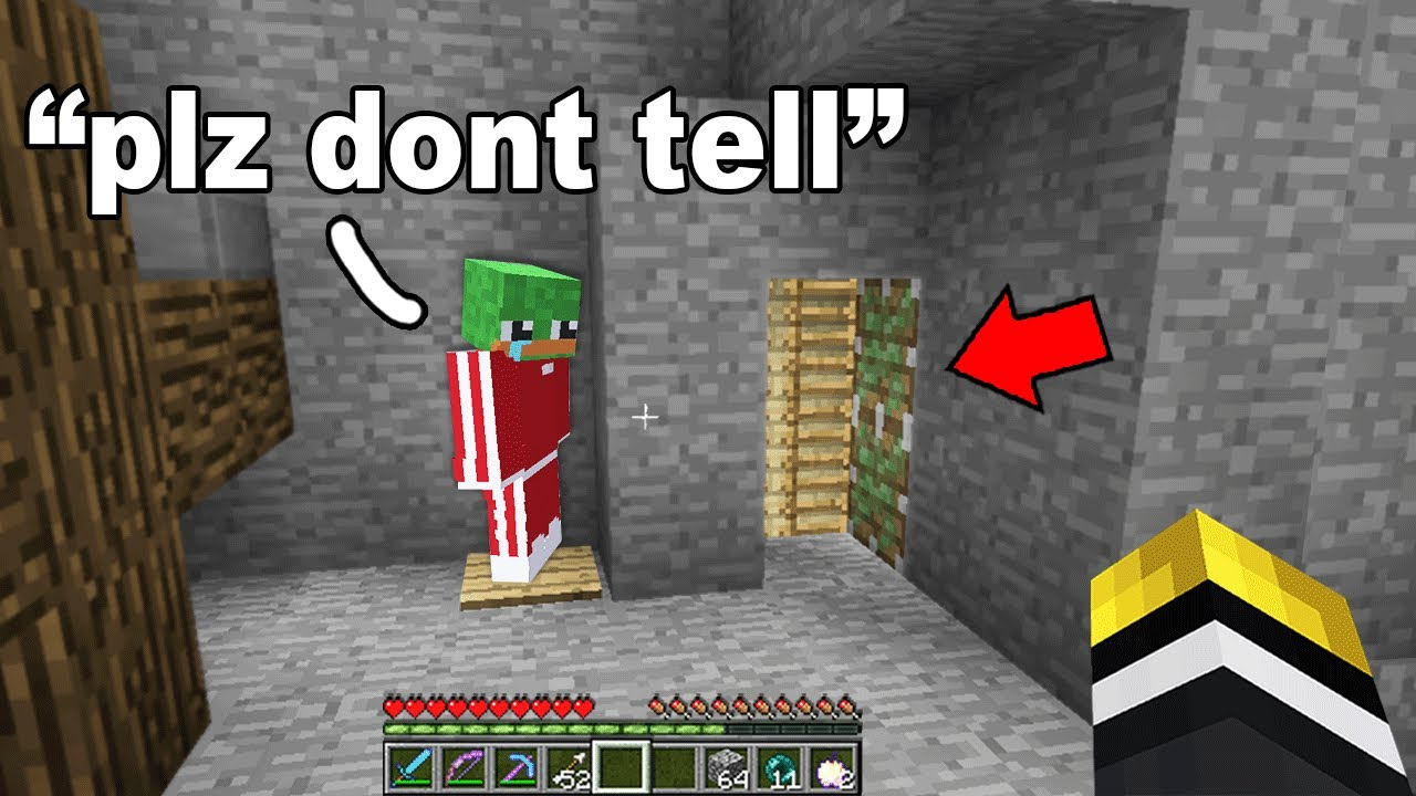 I found this kids old school Minecraft base.. then his friend exposed a secret doorway!
