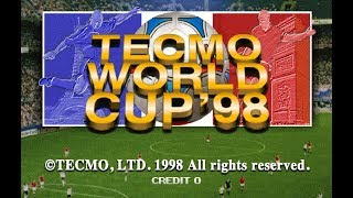 Tecmo World Cup 98 - Arcade (Mame) Gameplay