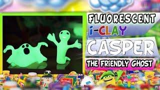 New! Play-doh Fluorescent Clay Casper The Friendly Ghost Halloween Figures Diy Iclay Sculptures