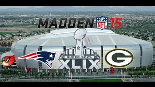 patriots vs packers superbowl madden 15