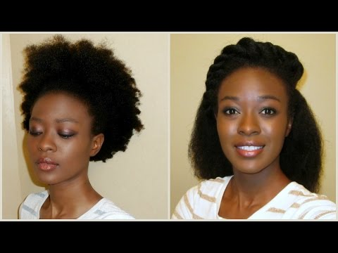 African Hair Threading : No Heat Kinky To Straight 4C Natural Hair