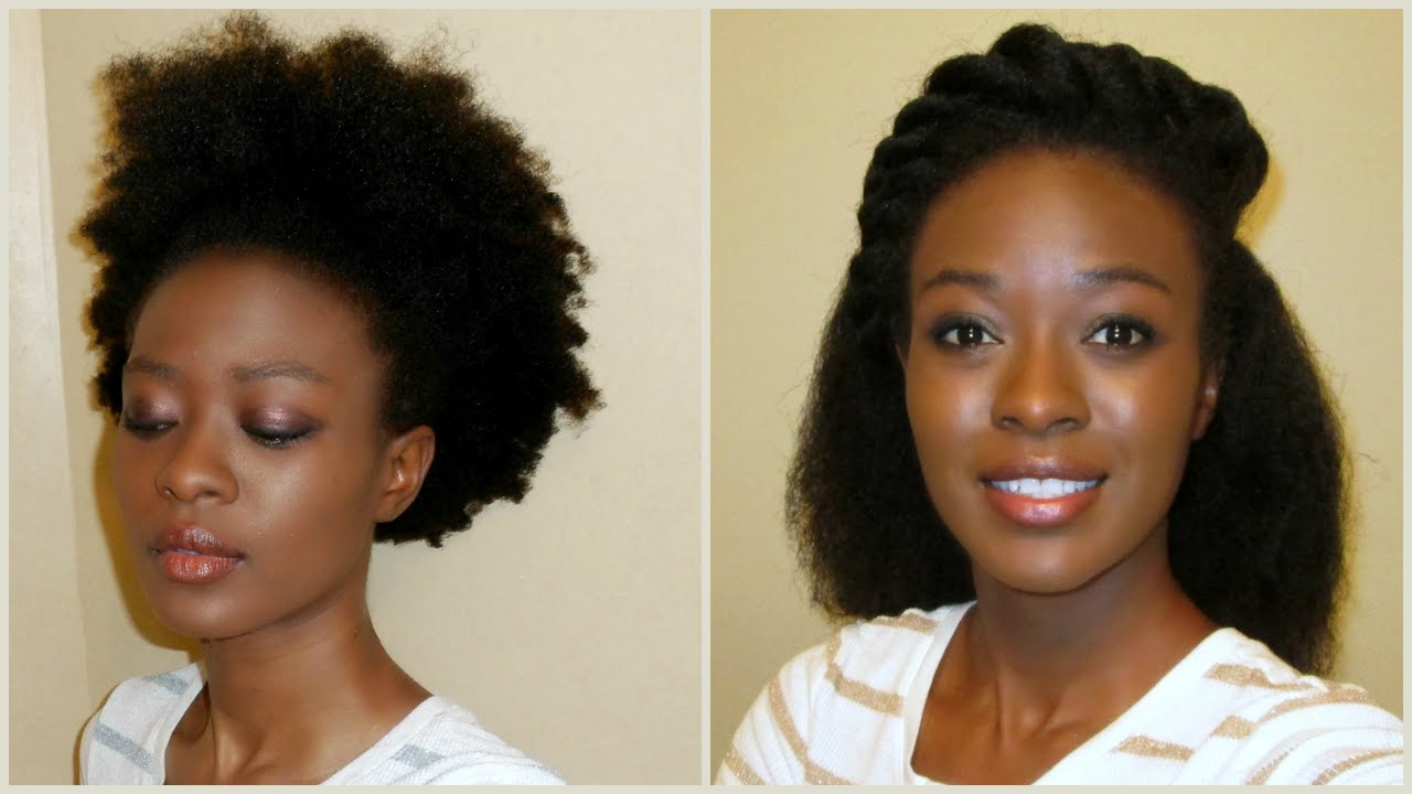 African Hair Threading No Heat Kinky To Straight 4C Natural Hair