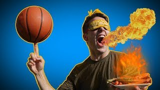 SPICY TAKIS BASKETBALL TRICK SHOT CHALLENGE!
