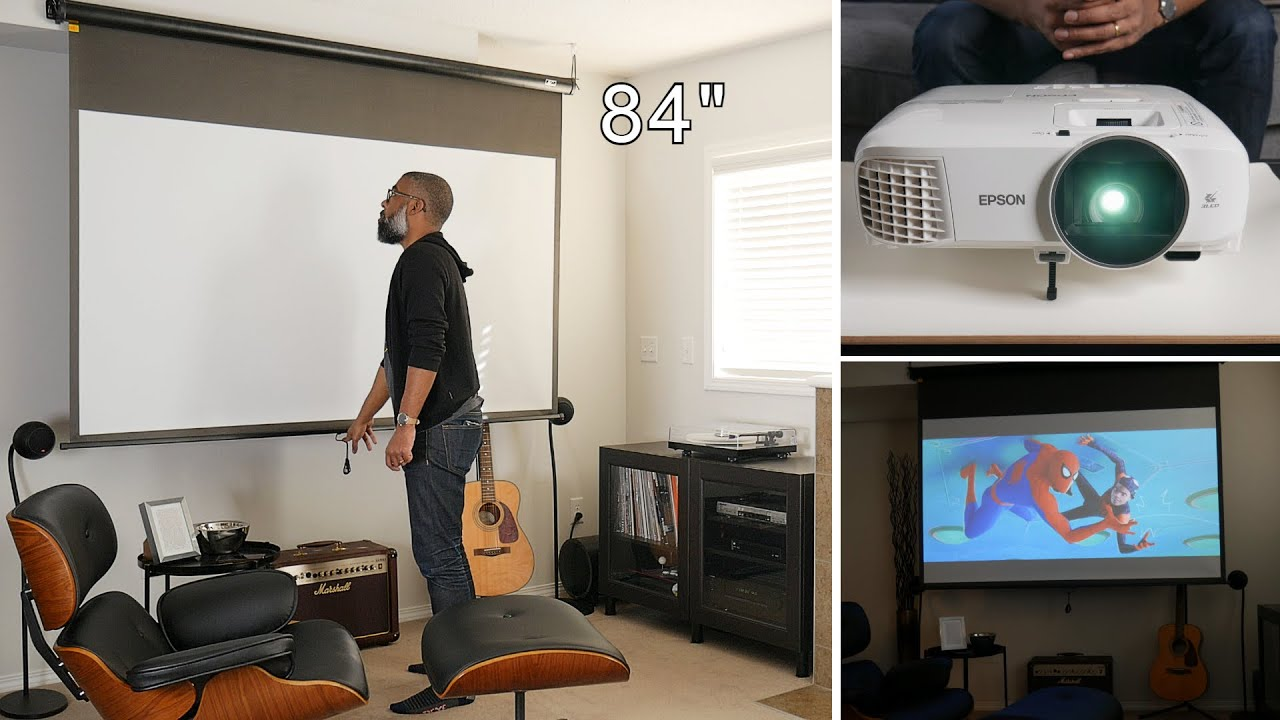 DIY HOME CINEMA SETUP TOUR | How To Transform Your Living Space With A Home Theatre Projector System