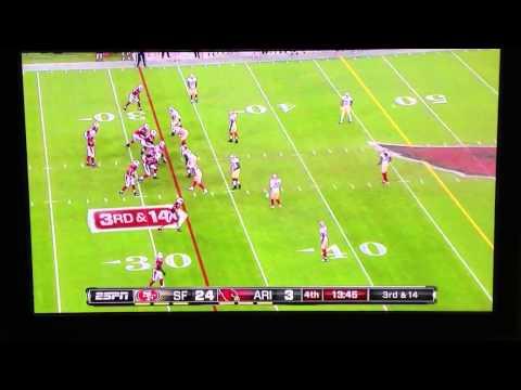 Dashon Goldson hit on Monday night football 49ers!!
