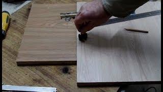 Как просверлить отверстие дрелью под мебельную петлю