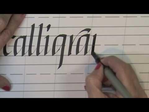 Italic calligraphy online class youtube Calligraphy youtube