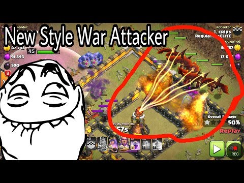 New style 😁4Healer 7 dragons 2 baby Impossible Skill Destroy th11 war base